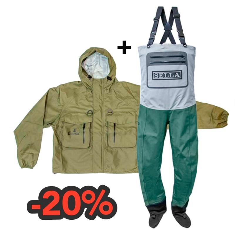 Combo Baetis Wader and jacket