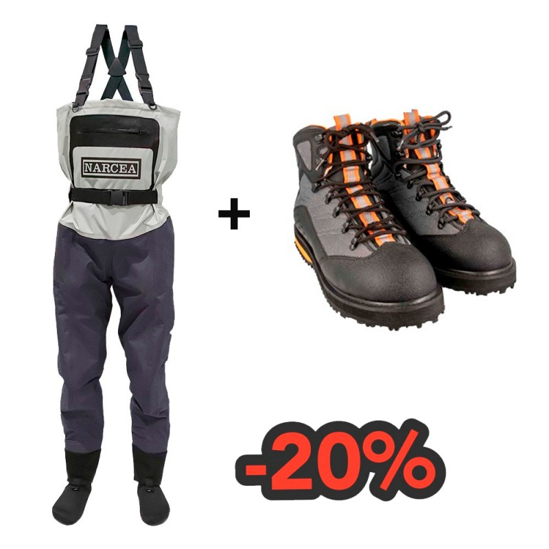 Combo Baetis Wader and boots