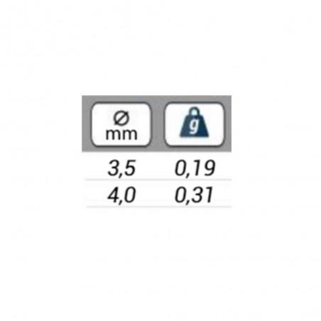 TÊTES TUNGSTENO PLUS PLATA 3.8 mm 20 ud
